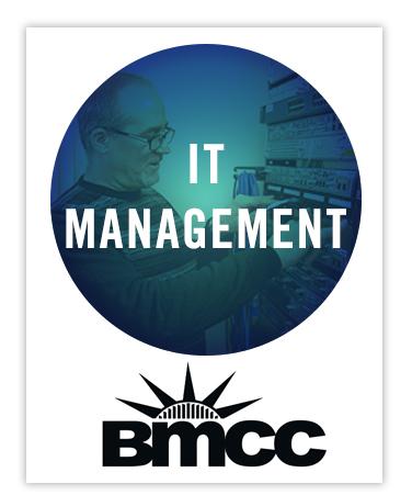 IT Management at Borough of Manhattan Community College infosession graphic