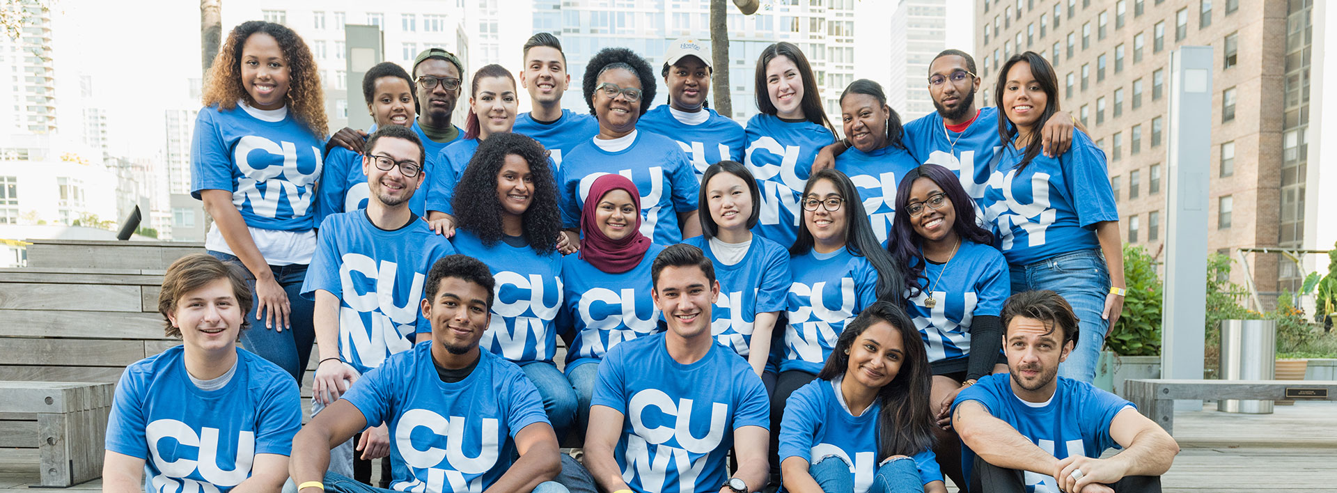 CUNY students using t-shirts to promote Giving Tuesday