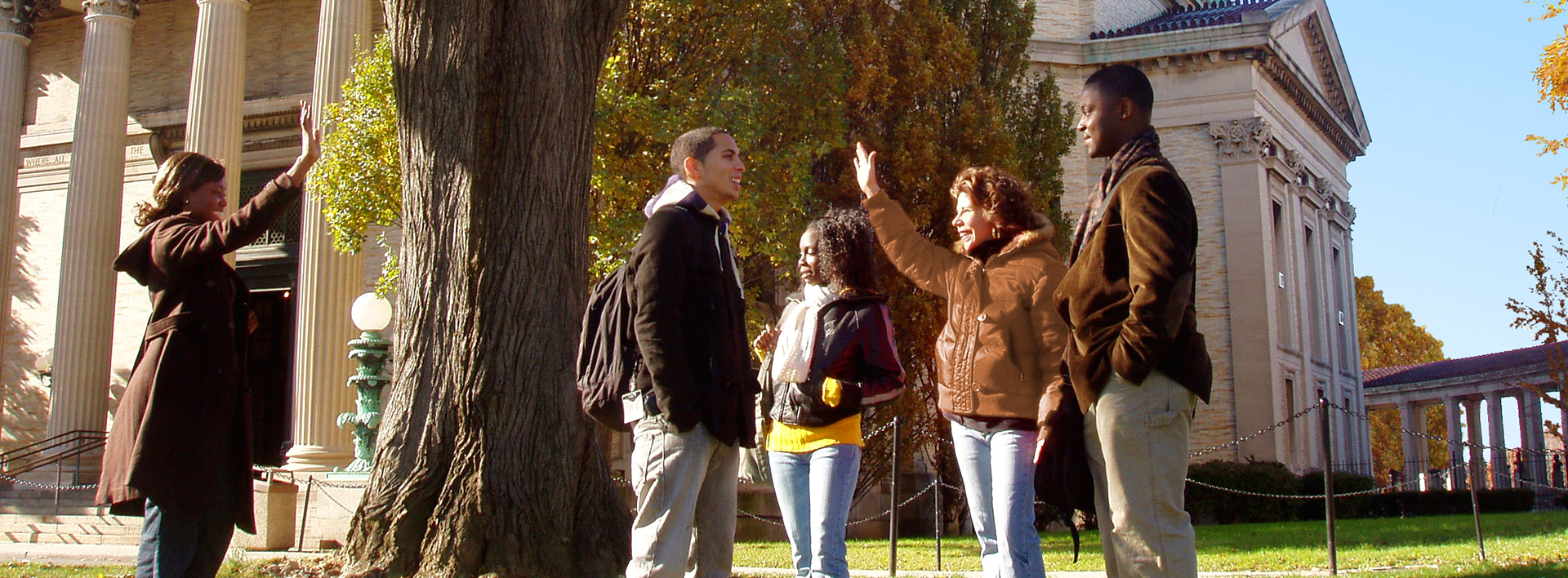 Students on the bronx community college campus