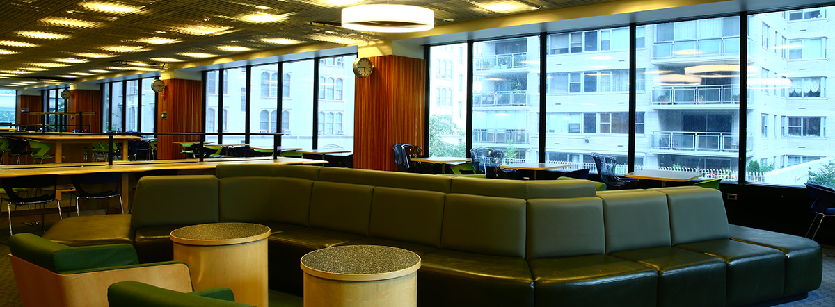 Interior of the Leon and Toby Cooperman Library at Hunter College