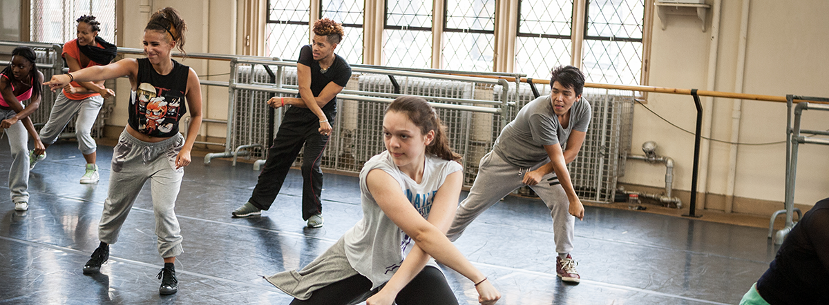The Peggy Dance Studio at Hunter College dance practice