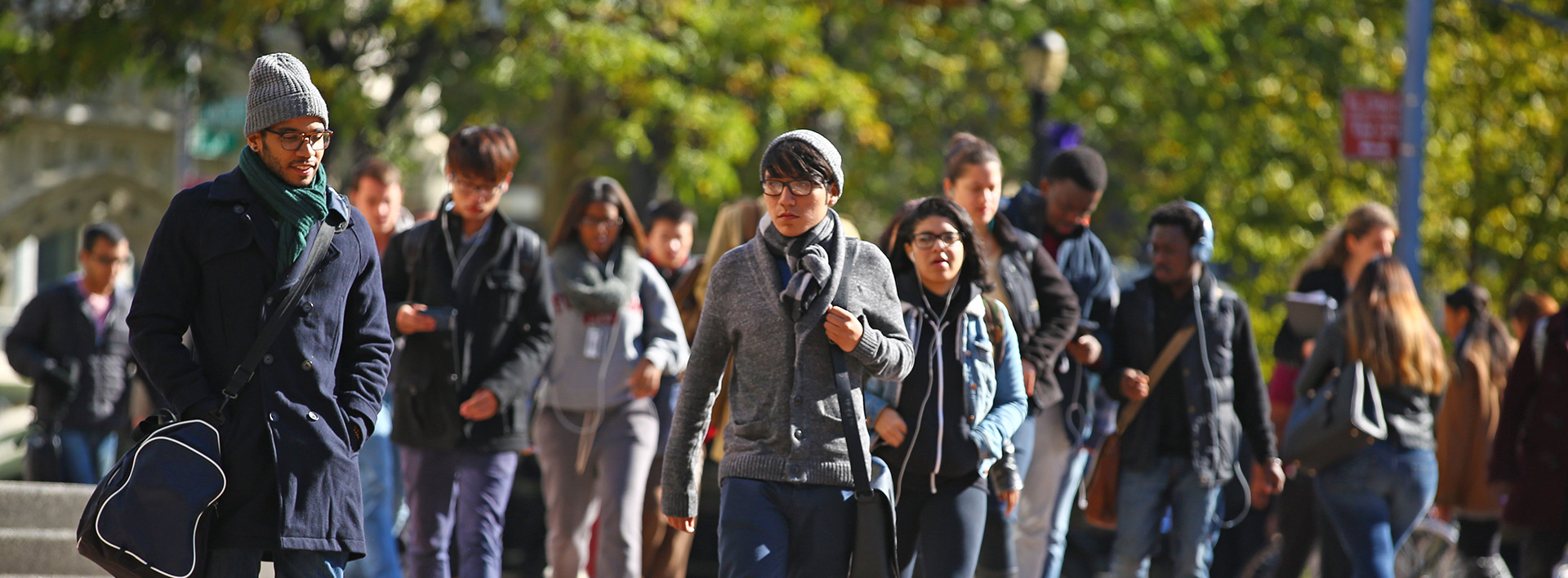 students walking on the Brooklyn College campus