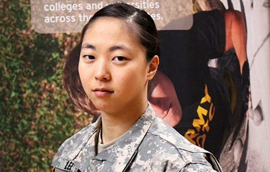 Rose Lee, ROTC Second Lieutenant Rose Lee, Hunter College graduate