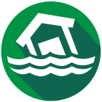 Flood icon for weather safety and preparedness