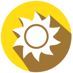 sun icon for weather safety and preparedness
