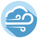 wind icon for weather safety and preparedness