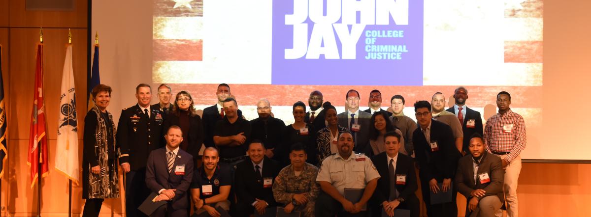 CUNY Veterans Academic Award ceremony at John Jay College
