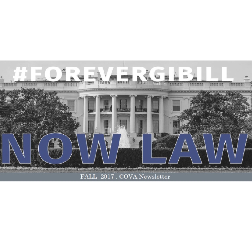 FOREVER GI BILL NOW LAW graphic for CUNY Vets Newsletter
