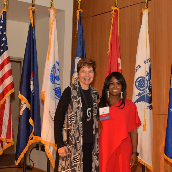 New York City Department of Veterans Services Loree Sutton (l) and CUNY Director of Veterans' Affairs Lisa Beatha