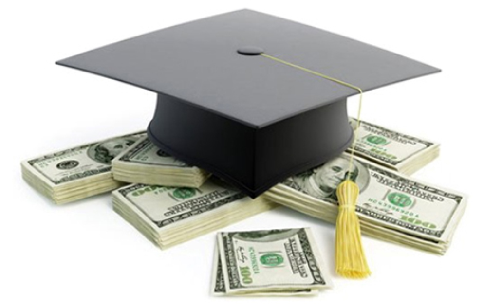 Pay for College graphic with mortarboard