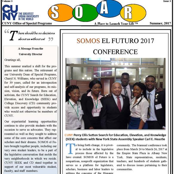 SOAR newsletter cover Summer 2017