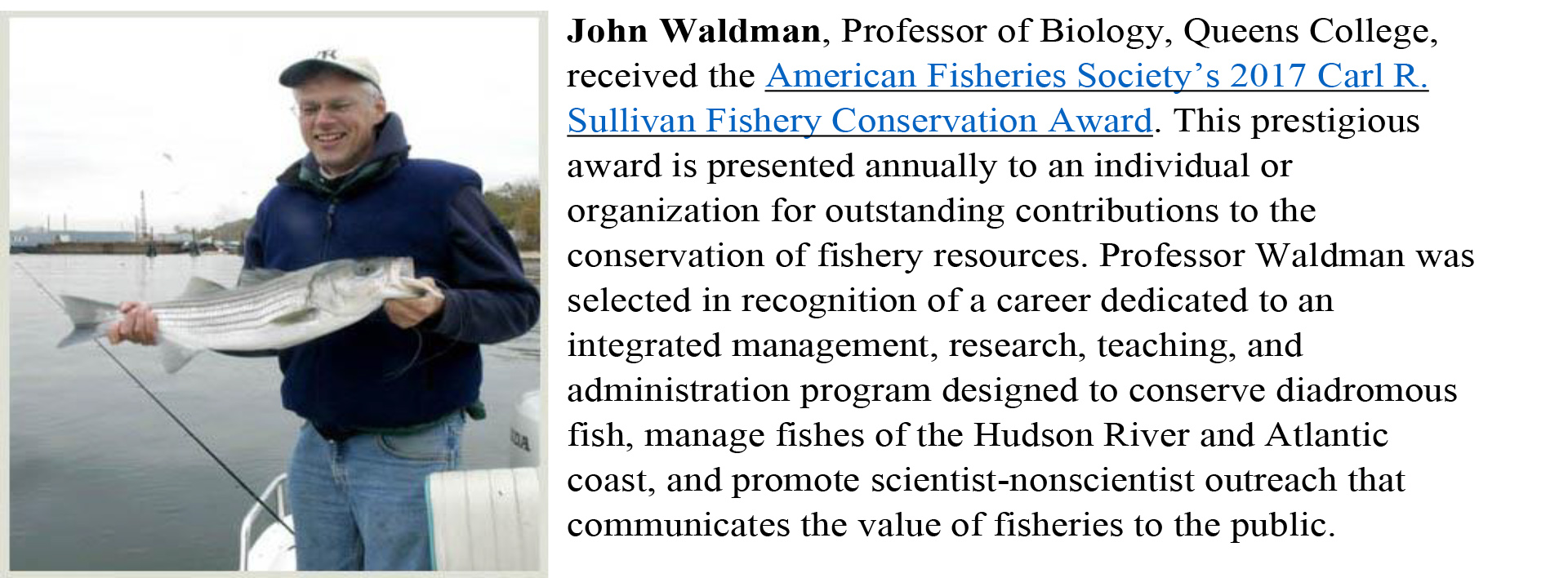John Waldman, Queens College Professor of Biology