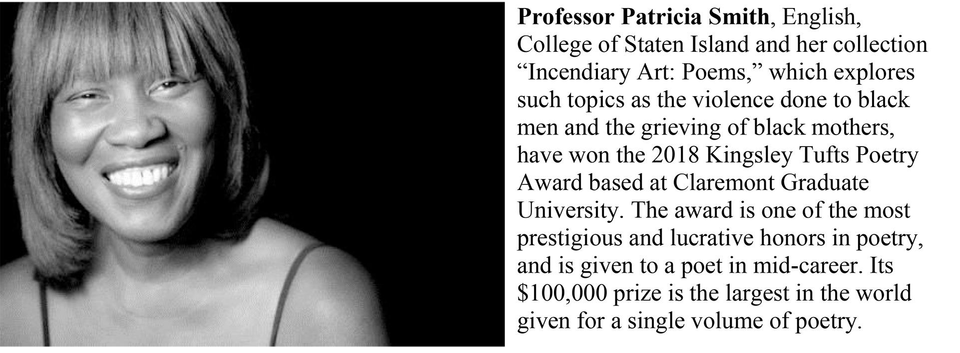 College of Staten Island Professor Patricia Smith, award winning poet