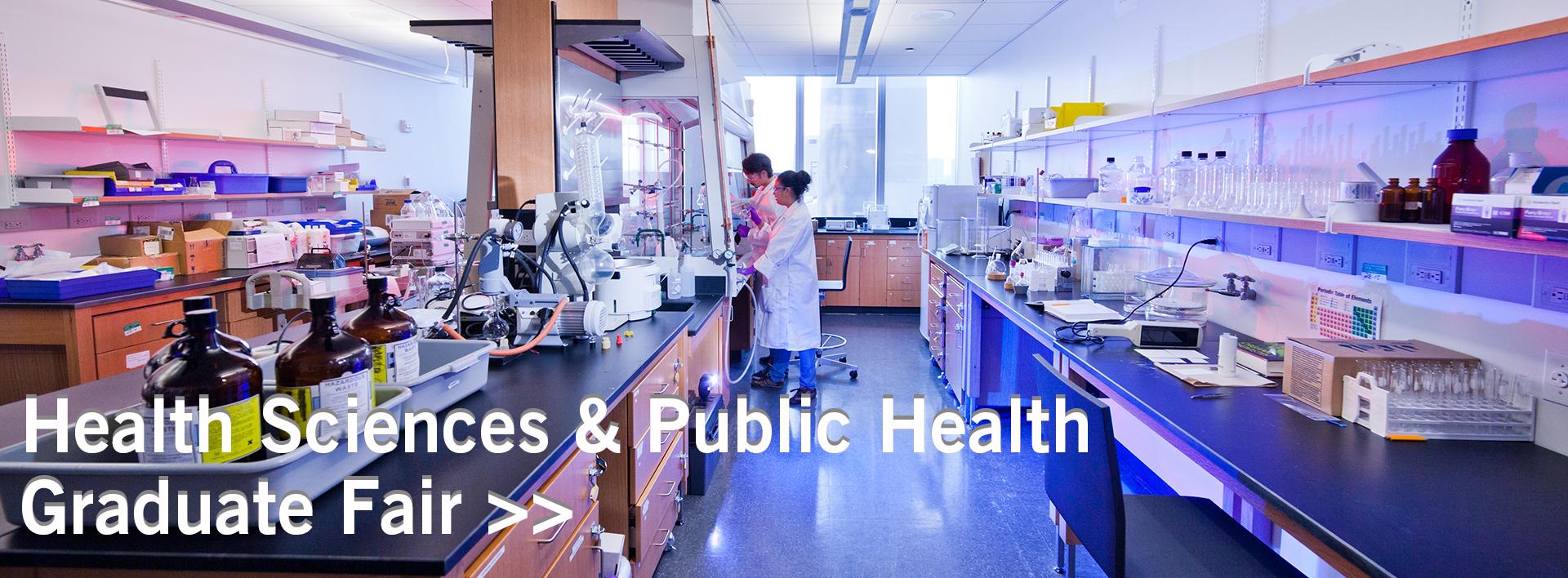 Banner for Health Sciences & Public Health Graduate Fair