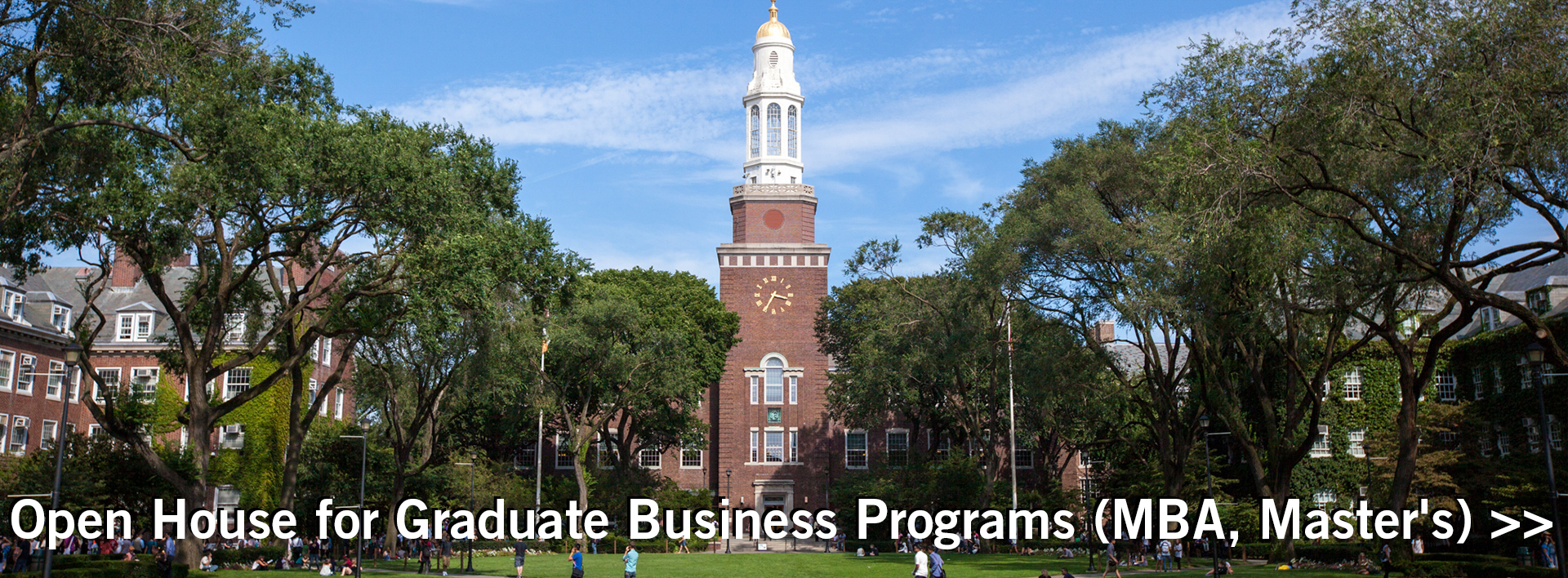 Brooklyn College campus and library for business banner