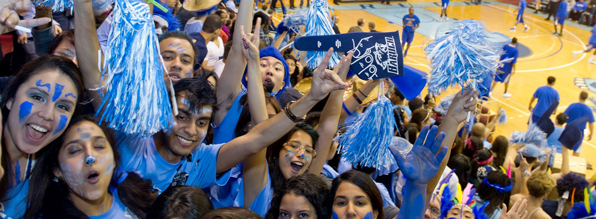 Baruch College basketball fans