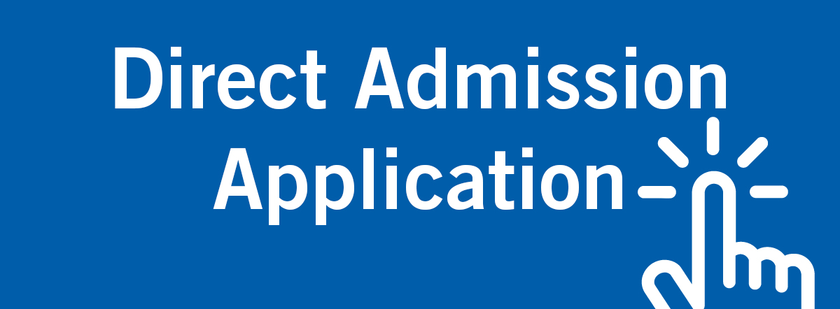 Direct Admission Application Graphic