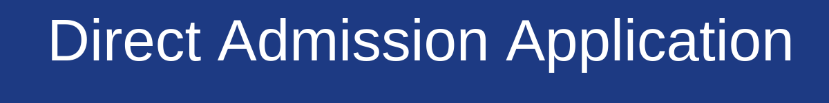 Direct Admission Application banner