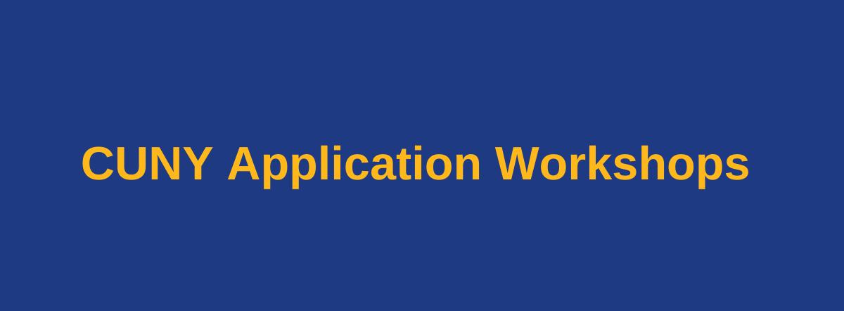 student application workshops banner