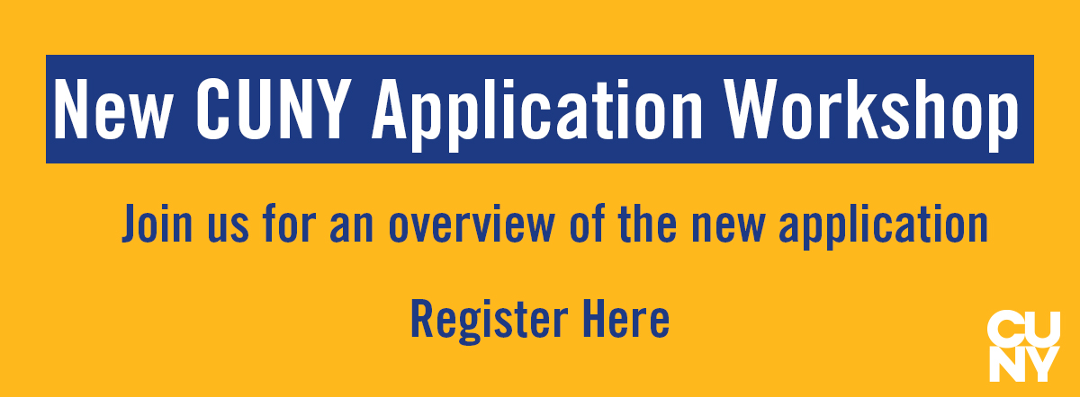 New CUNY Application Workshop graphic header