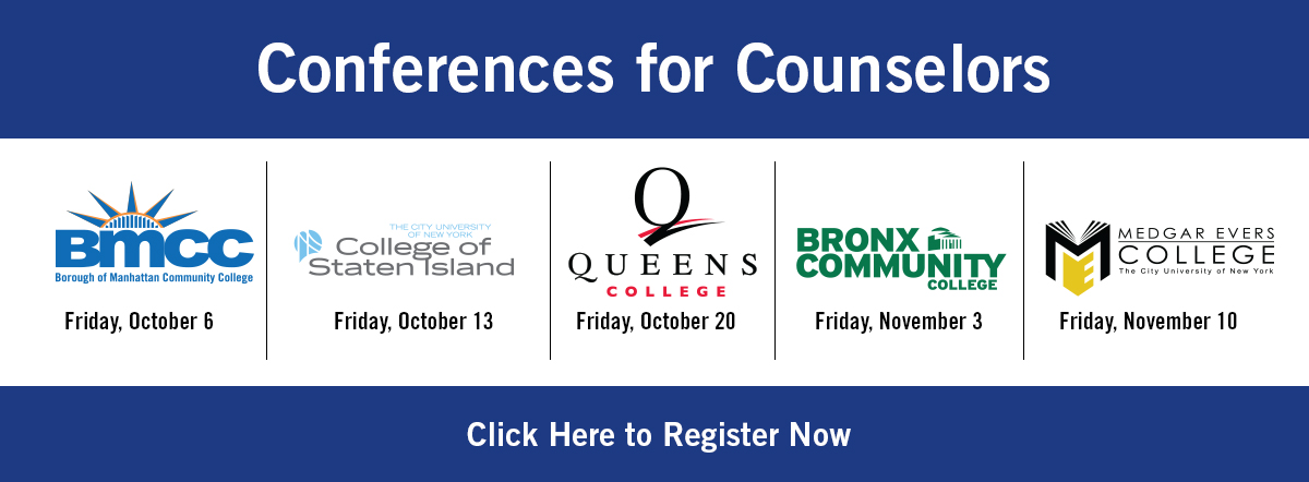 Conferences for Counselors banner