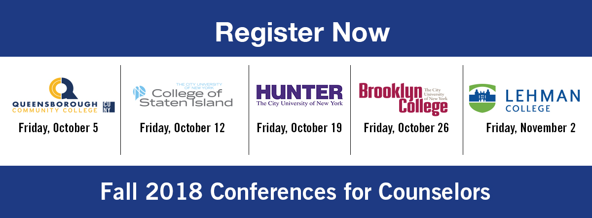 save the date graphic for fall2018 conferences for counselors