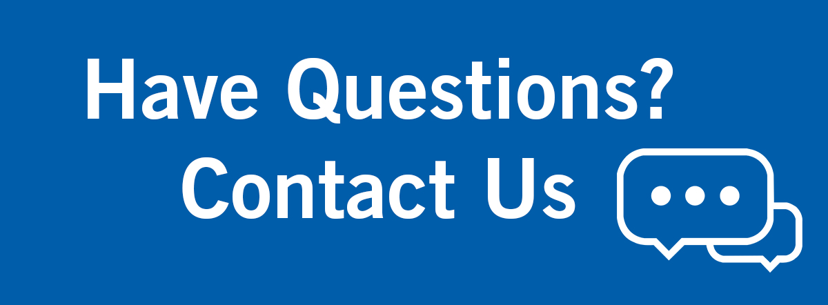 Have Questionos? Contact Us graphic, for undergraduate admissions