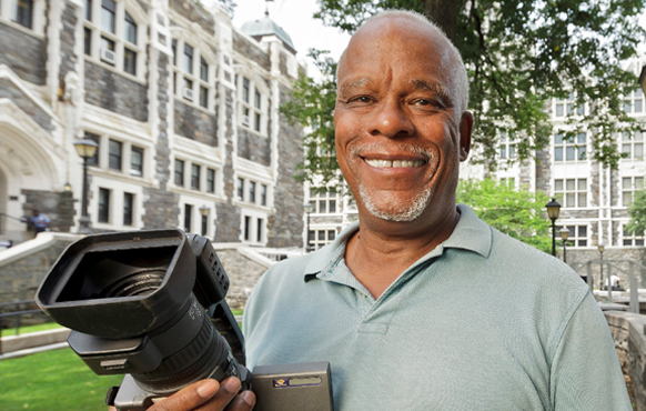 Stanley Nelson, Jr., film documentarian and City College of New York (CCNY) alumnus. He is also a MacArthur Foundation Fellow