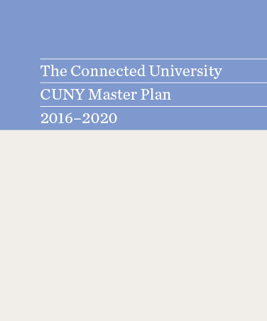the connected University CUNY Master Plan 2016-2020 cover