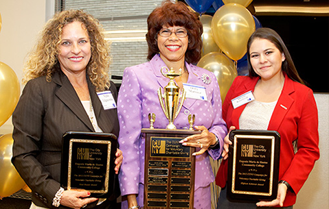 CUNY Voluntary Charitable Giving champions with awards