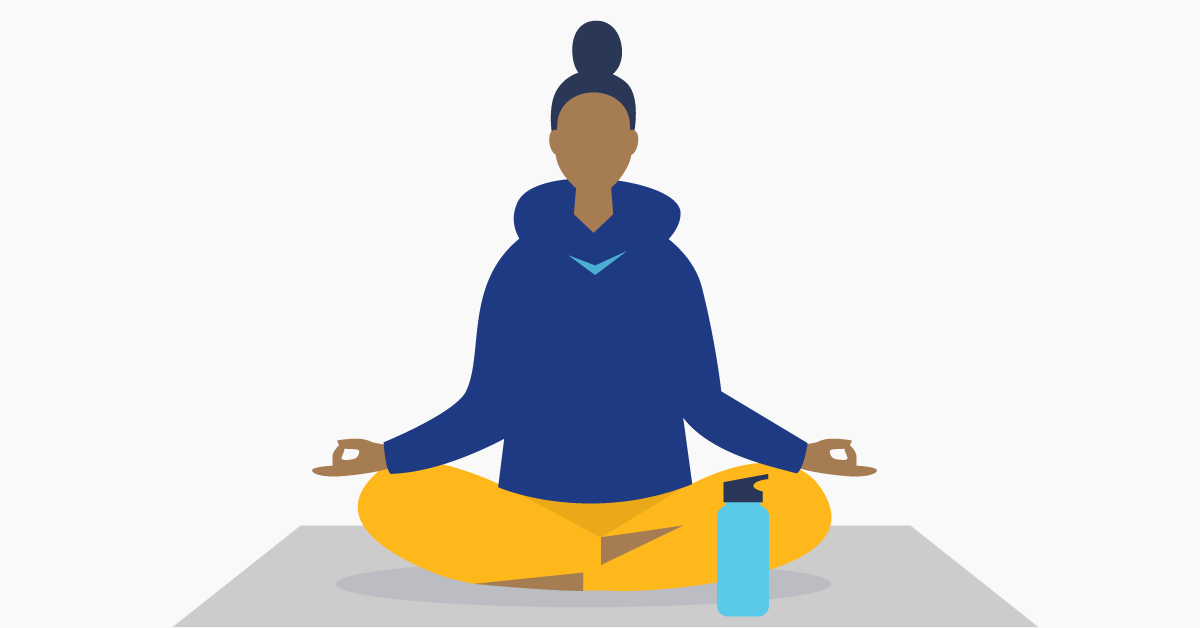 female doing yoga illustration