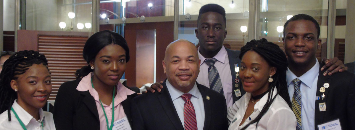 Office of Special Programs, SOMOS Speaker, New York State Assemblyman Carl Heastie, New York State Assemblyman, With SEEK Students