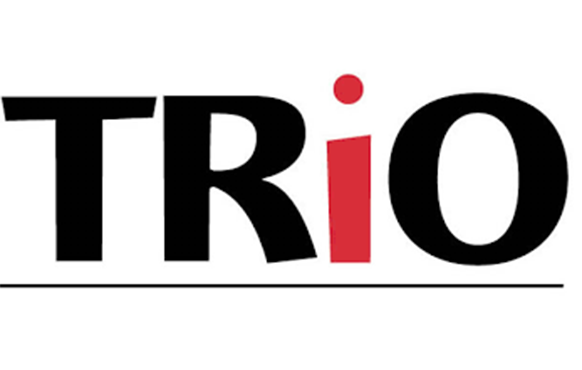 TRiO logo. RiO is a set of federally funded college opportunity programs that motivate and support students from disadvantaged backgrounds in their pursuit of a college degree