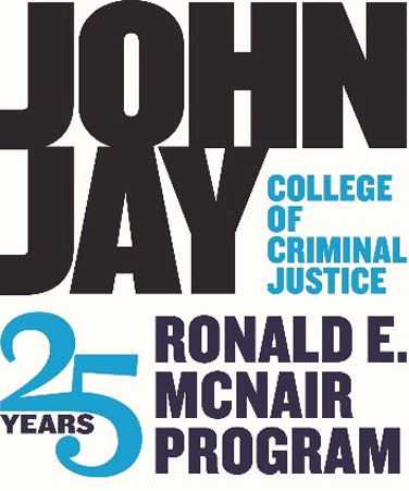 Graphic celebrating the 25th anniversary of the Ronald E. McNair Program at John Jay College