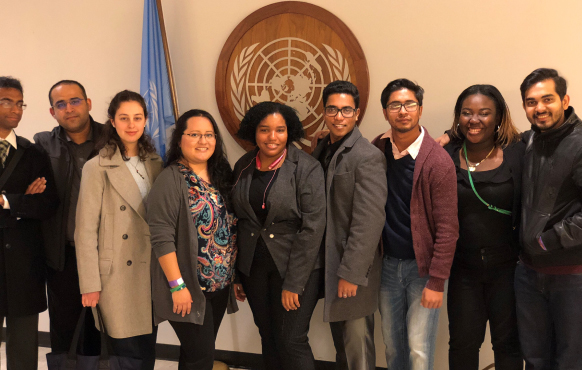 Malave Leadership Academy students visiting the United Nations