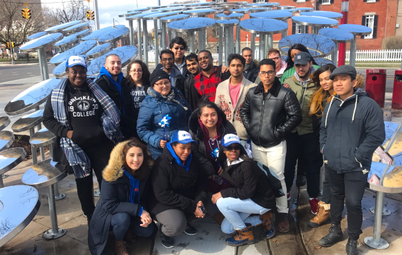 Malave Leadership Academy students on spring break in Syracuse, NY on April 3, 2018
