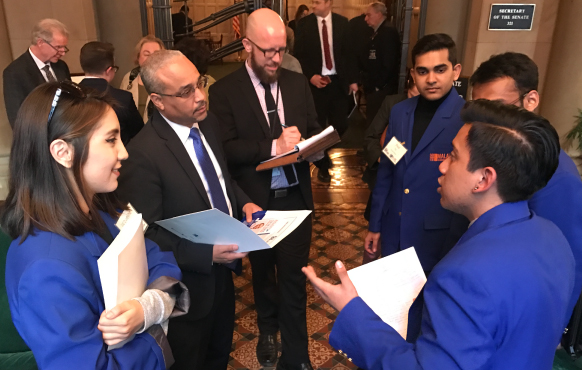 Malave Leaderhip Academy students in Albany