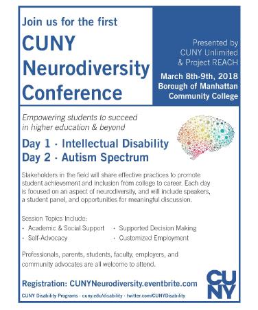 CUNY Neurodiversity Confernce flyer