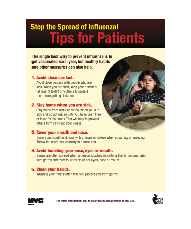 Stop the Spring of Influenza flyer