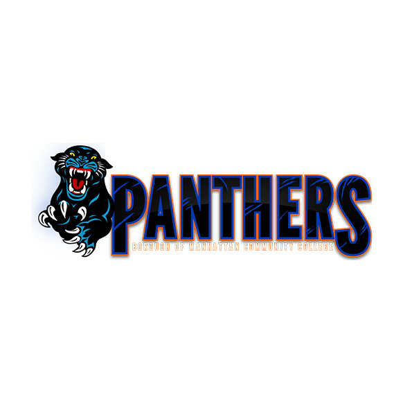 Borough of Manhattan Community College Panthers mascot logo