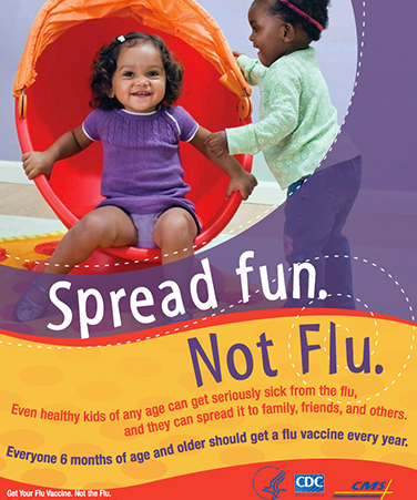 Spread fun. Not Flu. poster