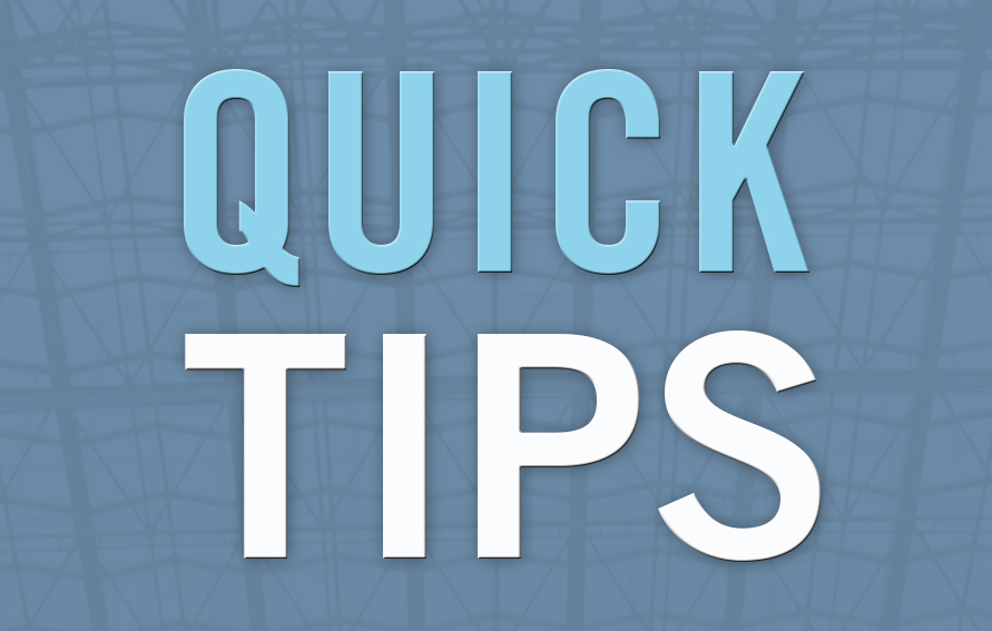QUICK TIPS banner