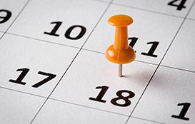 calendar for Big Apple Fair timeline