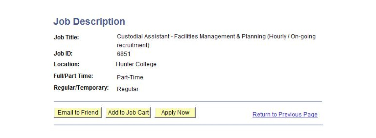 Applying For A Position The City University Of New York