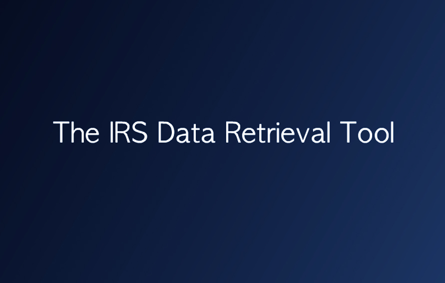The IRS Data Retrieval Tool