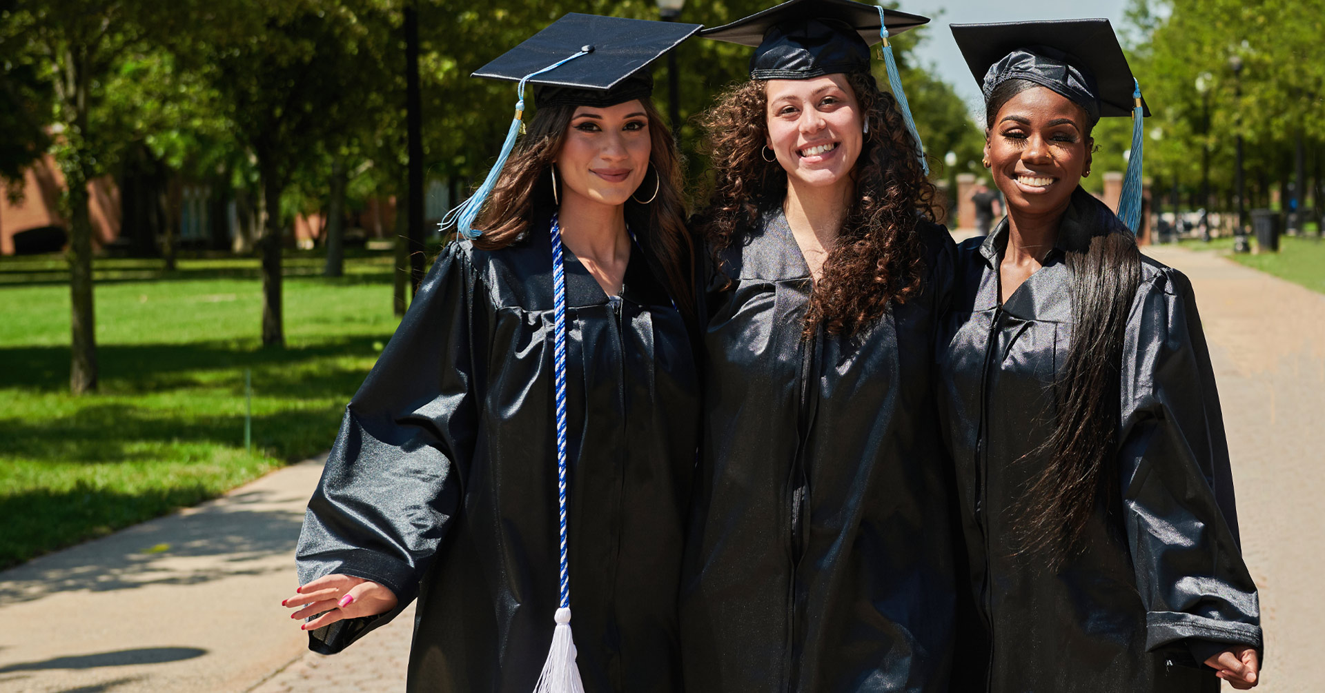 Three female 2021 College of Staten Island grads for CUNY Comeback