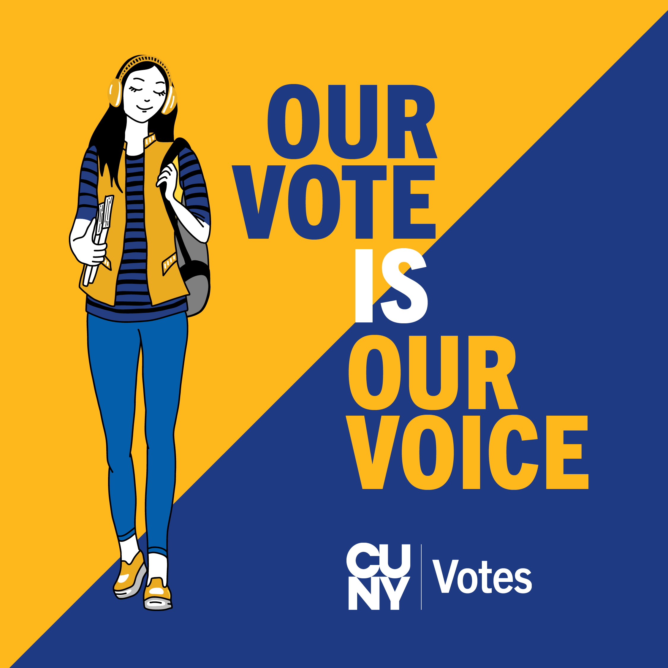 Our Vote is Our Voice - CUNY Votes graphic