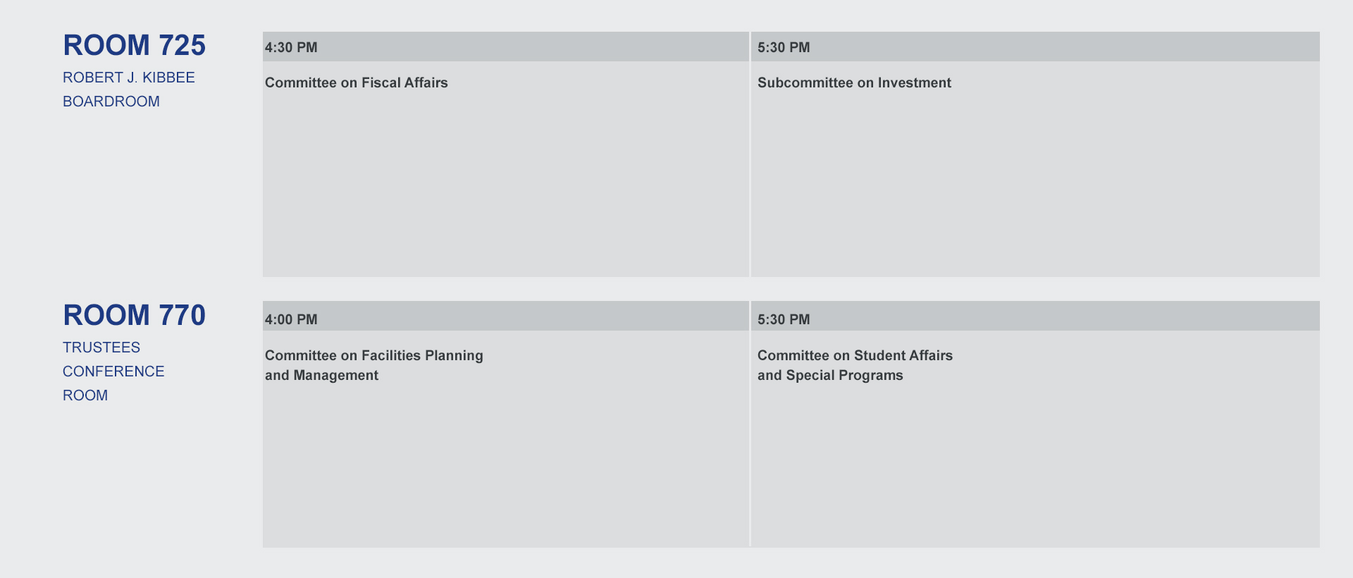 Template for Trustee Conference schedule