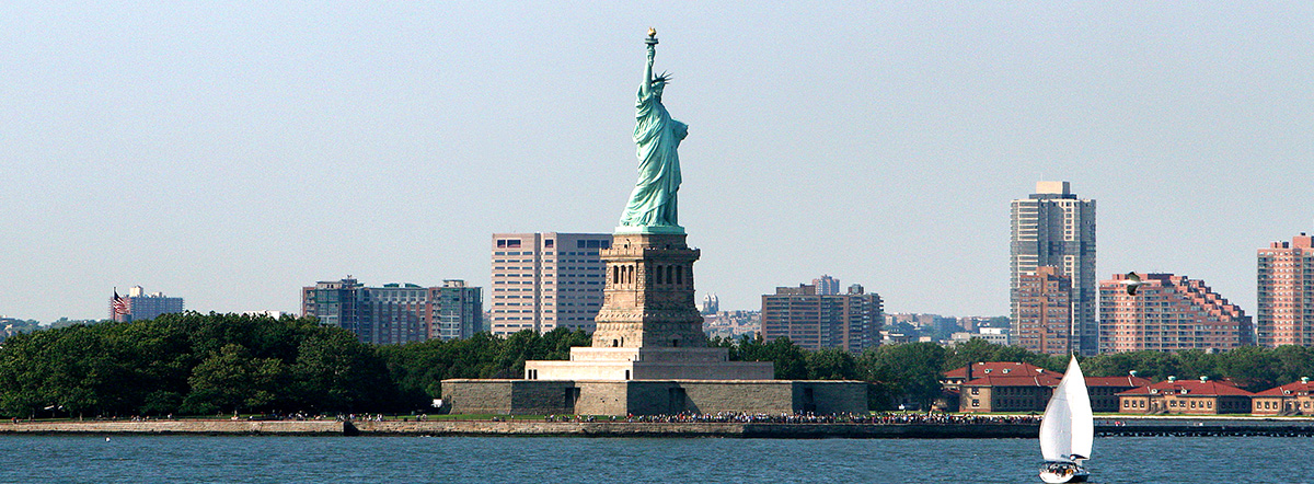 Statue Liberty in New York harbor