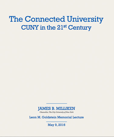 The Connected University: CUNY in the 21st Century cover